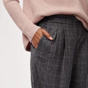 Aritzia Babaton window pane check wool cohen pants